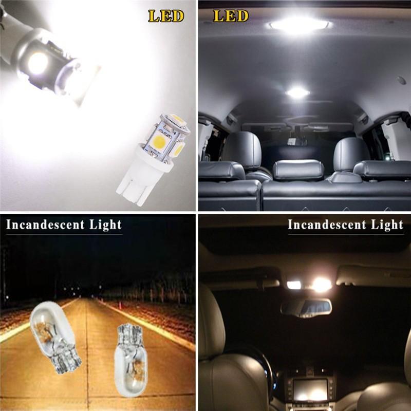 2x Green T10 Wedge 5 SMD 5050 LED Light bulbs W5W 2825 158 192 168 194