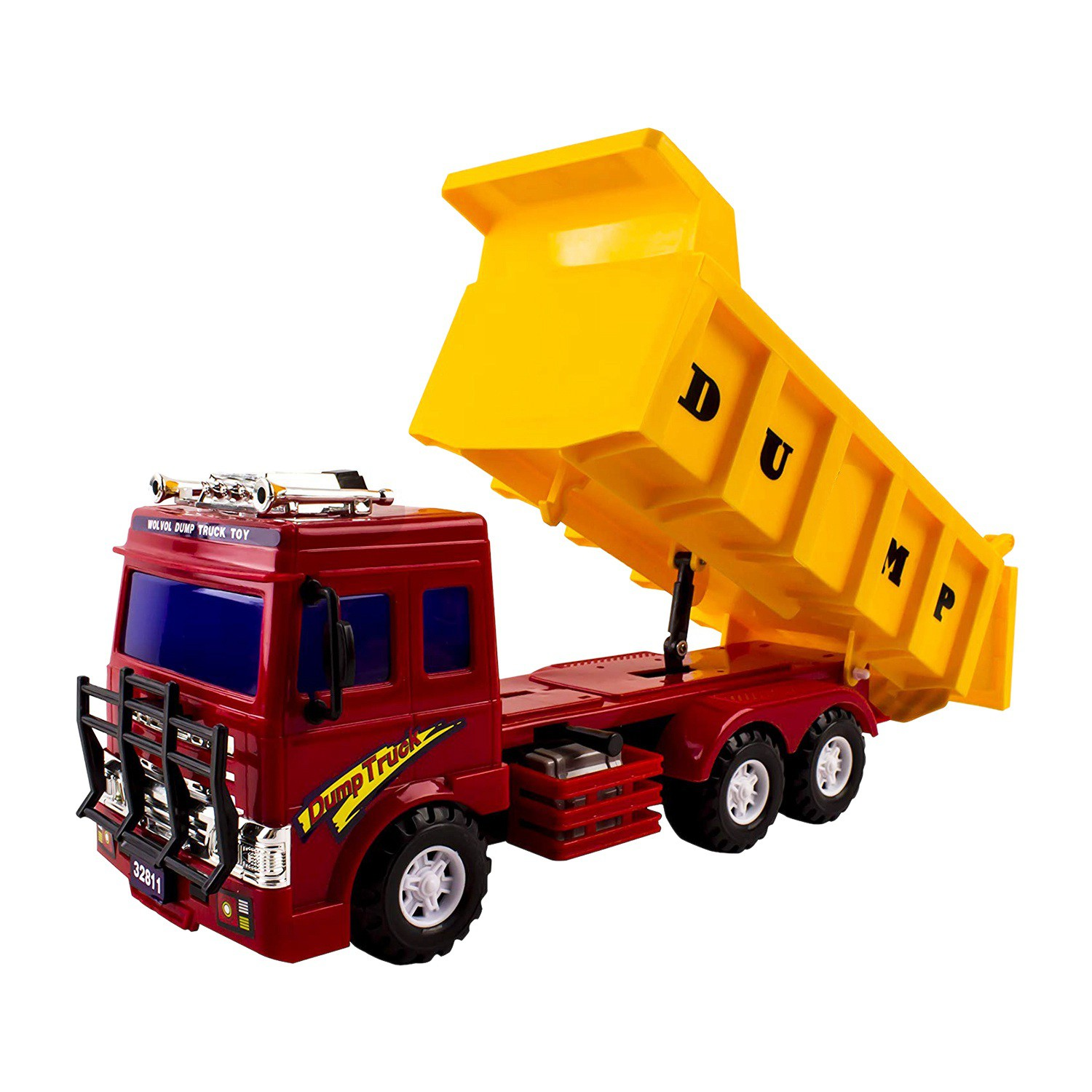 Big Frictional Power Dump Truck Toy For Kids Heavy Equipment Vehicle Toy Perfect Gift Idea For Kids Boys Girls Shopee Brasil