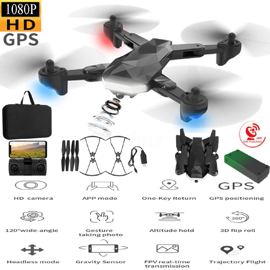 RC Drones Drone x Pro 5G With 1080P HD Camera GPS WIFI FPV Foldable Quadcopter