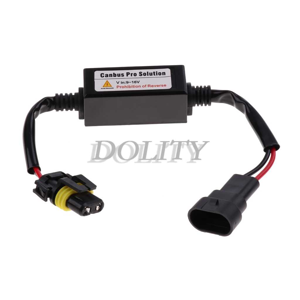 H7 Car LED Headlight Bulb Canbus Error Free LED Decoder Kits Error Load Resistor Computer Warning Canceller and Anti Flicker 2pcs//Set