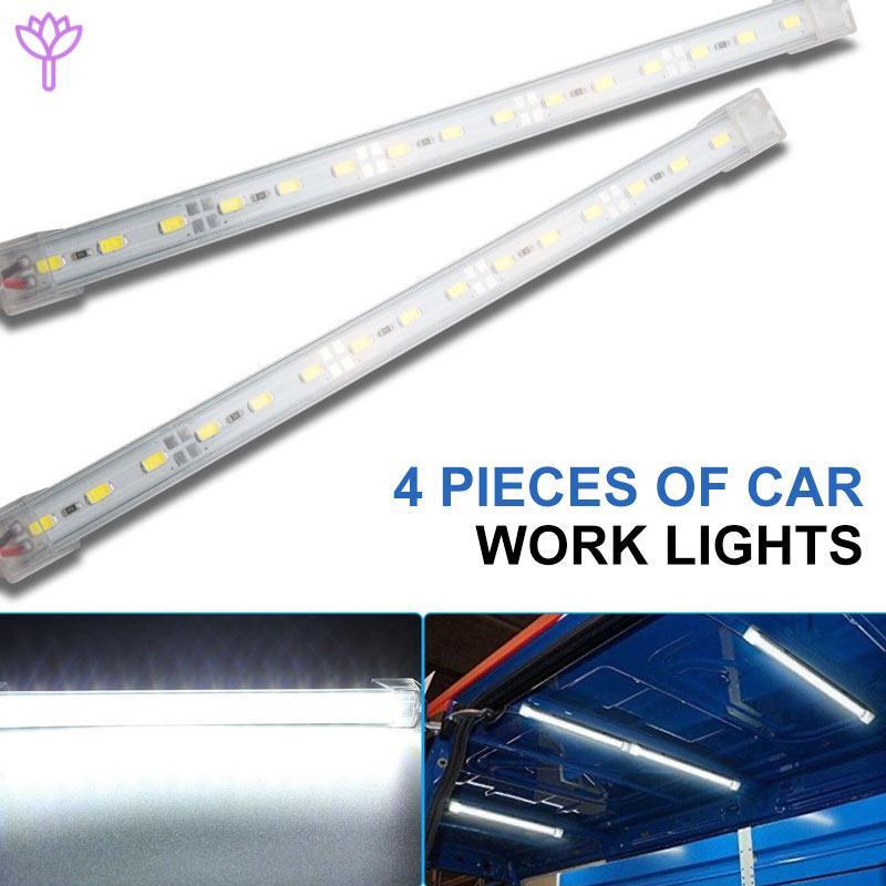 2X WATERPROOF 9W LED FLOOD BEEM WORK LIGHT LAMP BAR OFFROAD ATV QUAD 12V 24V