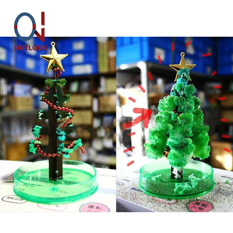 As crianças Magic Crystal crescimento Árvore Decoração De Papel De Natal Kit Ciência Brinquedo Presentes