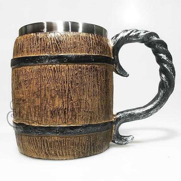Caneca Barril Medieval Viking Em Resina | Inox 400ml - para Chopp, Vinho, Cerveja. | Shopee Brasil