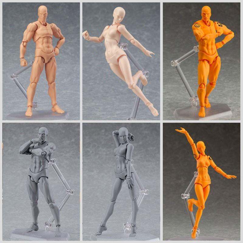 Masculino Feminino Pvc Acao Figma Arquetipo Figura Modelo Corpo