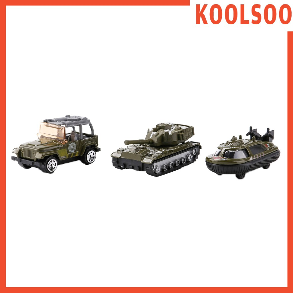 Koolsoo 3pcs 1 64 Alloy Jeep Car Police Car Submarine Army Base Model Toy Soldier Army Men Accessories Shopee Brasil