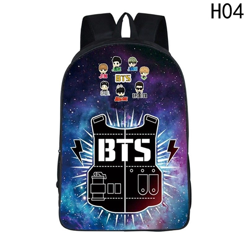 Bangtan Boys BTS JUNG KOOK V JIMIN Backpack Shoulder Bag School Bookbag Canvas