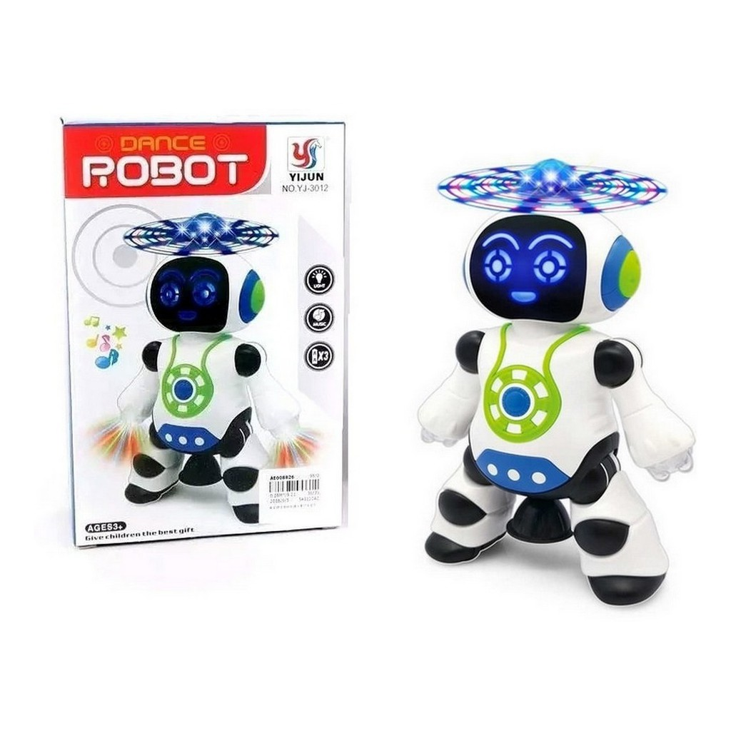 Brinquedo Robô que dança e Gira 360 Luz Musica Dance Robot - Yijun   Shopee Brasil
