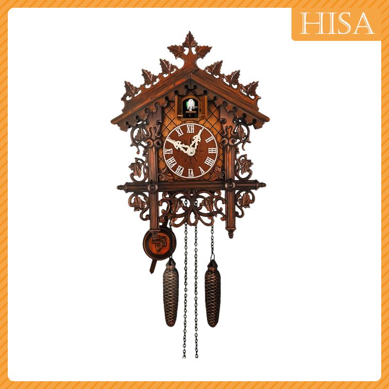 Hisa Cuckoo Clock Antique Quartz Child Room Wall Clocks Pendulum Kitchen Clock Shopee Brasil