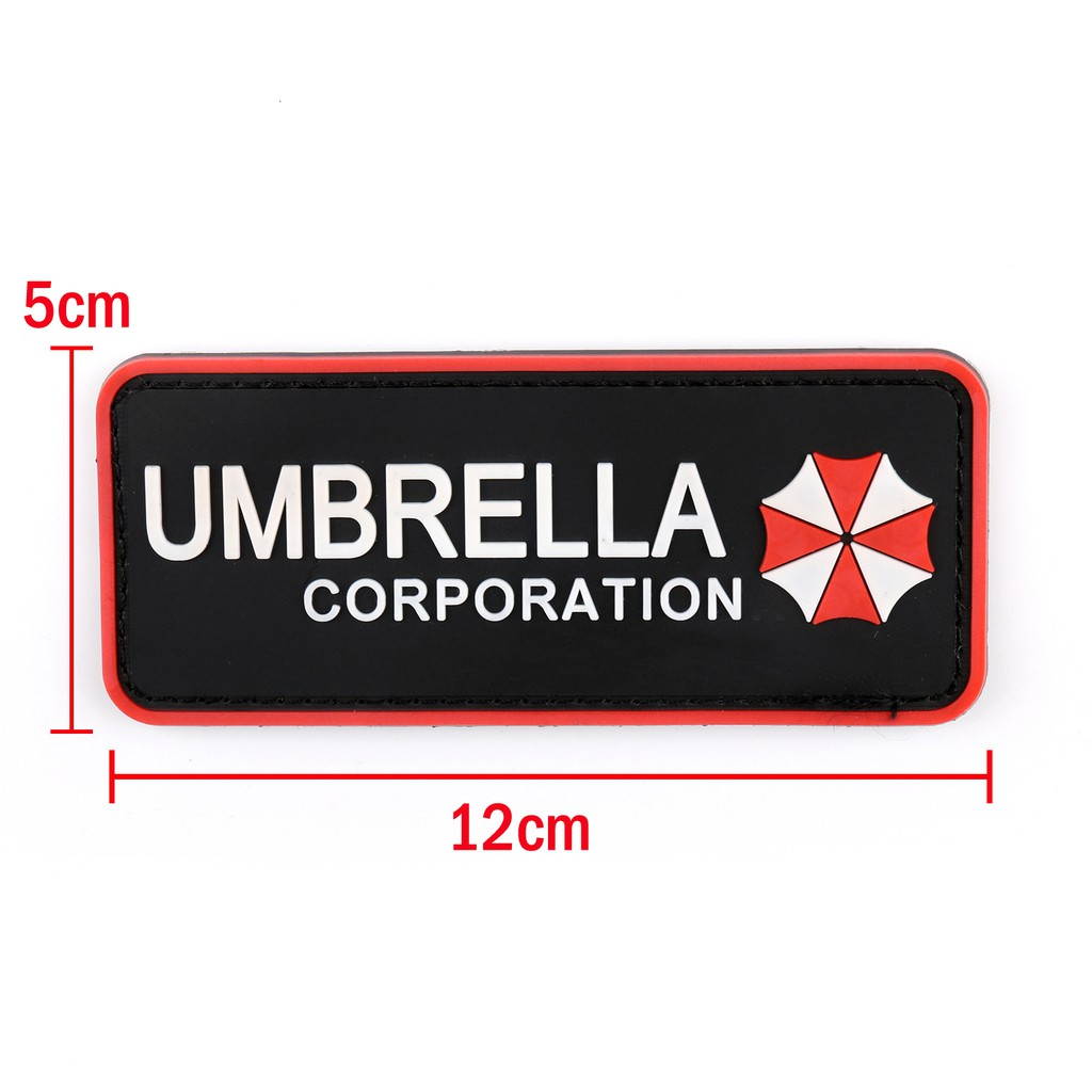 Umbrella Corporation patch Hook and Loop backing Resident Evil