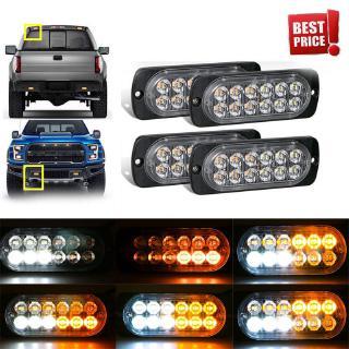 30x 24V 6 LED SIDE MARKER AMBER ORANGE LIGHTS LAMPS TRAILER HORSEBOX VAN E-mark